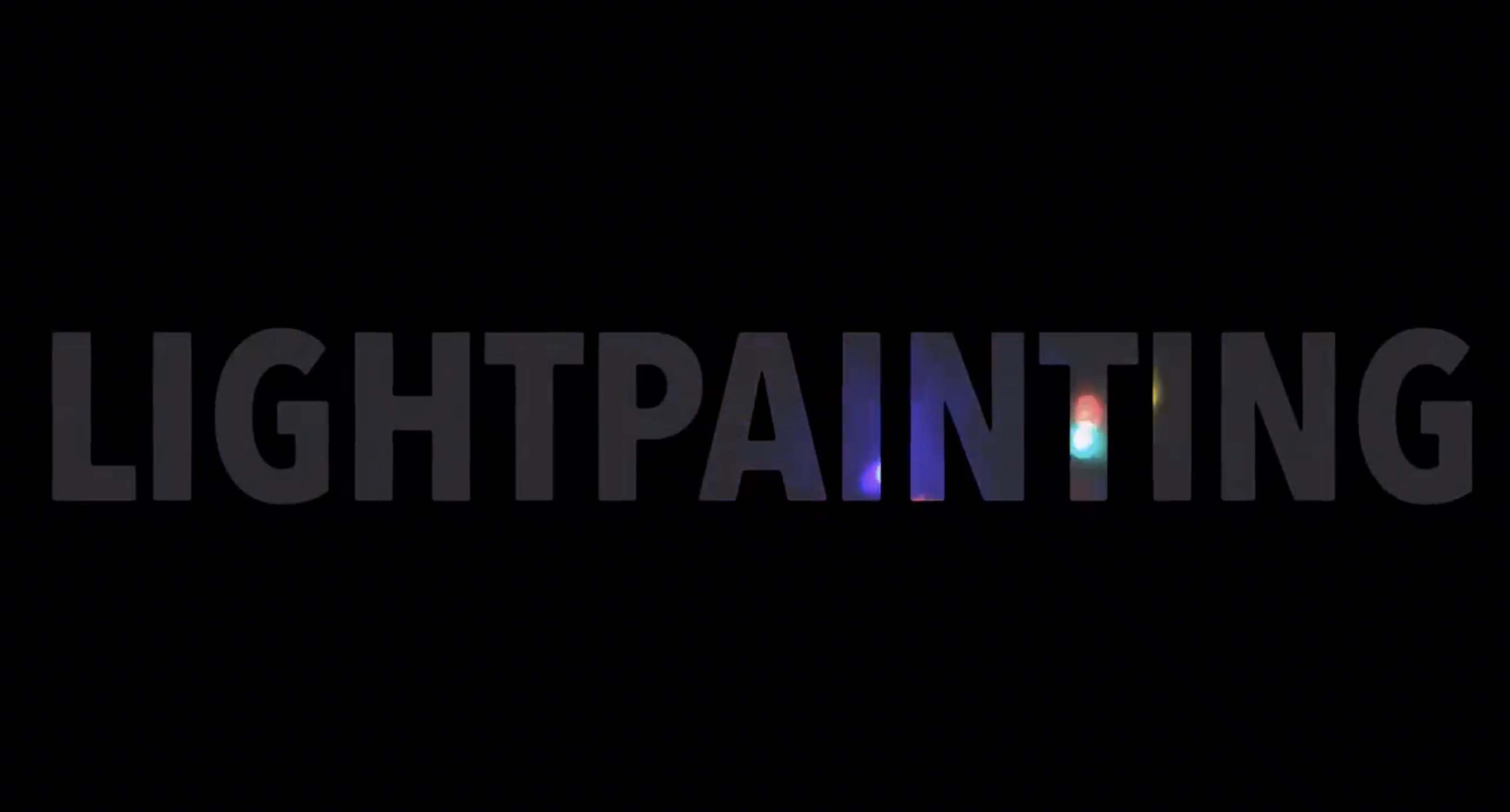 Lightpainting promo 2016